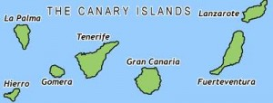 Canary Island Yacht Charter Map