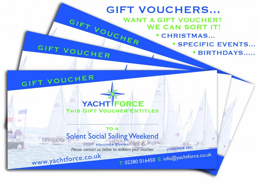 Yacht Sailing Gift Voucher from Yachtforce