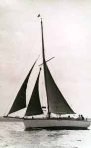 'Fearnought' Sailing Yacht - 1897 10 Ton Cutter. Live aboard yacht of the Nixon family in the 50's & 60's