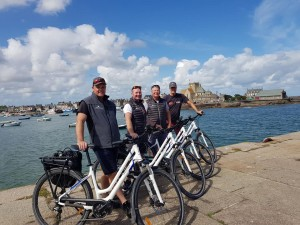 Electric Bikes for Hire at the ST Vaast Marina Office