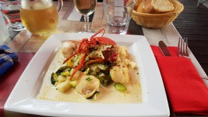 Delicious Lobster / Scallops at La Maree / Barfleur
